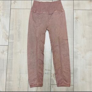 NWOT Free People Movement Shanti Pink Leggings M/L